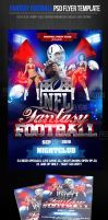 Football Fantasy Party Flyer Template by ImperialFlyers