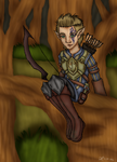 -Art Trade- Anea in the Woods by Sinbadghost