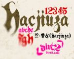 Hacjiuza - Free Font by KeepWaiting