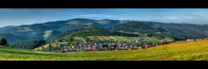 Morning above the village by Avalong