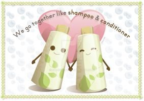 Card: Like Shampoo and Conditioner by glasskiwi
