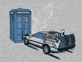 doctor who and back to the future by EllieHickles95