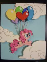 Papercraft - Pinkie Pie's 'Up' by JackOfMostTrades