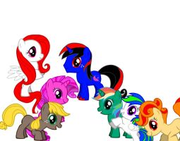 Me and My Mane 6 Filly by Anfrisiojunior