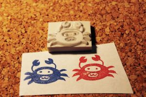 Spy Crab Rubber Stamp by perVitecho