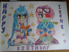 Happy Birthday colored by Laineyfantasy