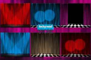 Curtain Stage Background by BackgroundStore