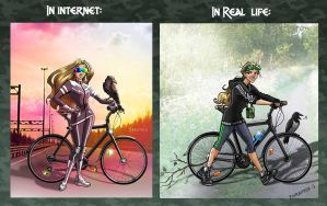 Life vs Internet) by Zoratrix