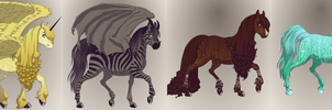 Horse Adoptables - 1 LEFT by Mossy-Flyer