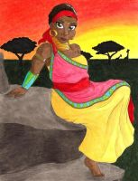 African Goddess by the-punk-hippie