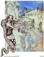 Of Snakes and City Streets by Gruever13