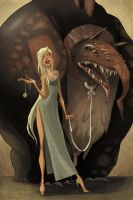Lady and Monster by arbitrary-art