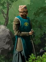 Female Dragonborn Commission Painting by Entar0178