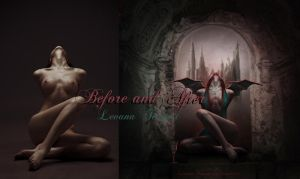 Before and after A Demons Tale by LevanaTempest