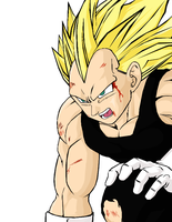 SSJ3 Vegeta Color by darkhawk5