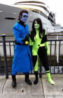 London MCM Expo Oct 2014 - Dr Drakken and Shego by PhaseChan