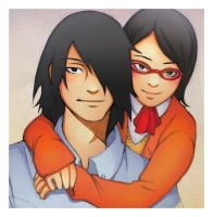 .:Sasuke and Sarada:. by BlissfulGold