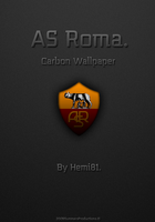 -AS Roma Carbon Wallpaper- by Hemingway81