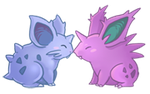 Nidoran M and F by NeverlessHearts