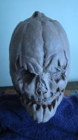 PumpkinHead Mask Sculpture 2 by purplenothing