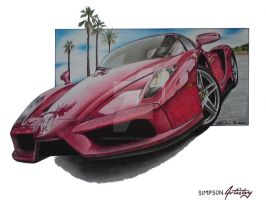 Ferrari Enzo by SIMPSONARTISTRY