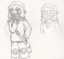 For what is a dwarf without a beard - DnD drawing by lava1o