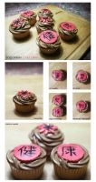 Japanese cupcakes by Yuleen75