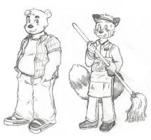 Ralph and Herbert Sketches by KoonieDude