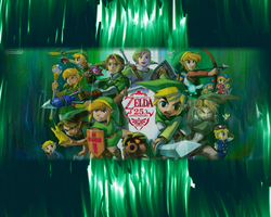 Zelda 25th Anniversary by JocelynJEG