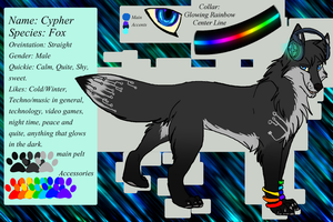 New Cypher Ref by Whitefeathersrain by darkdissolution