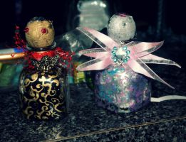 Faerie Bottles by artemisroseshadow