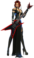 Guitar BloodRayne by TheMissingCloud