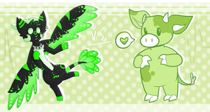 Egycii vs. Olive! by OliveCow