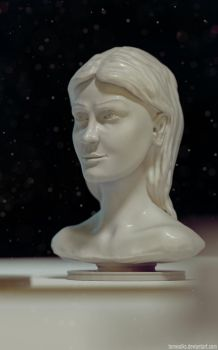 Woman head sculpt (Blender 3D) by TomWalks