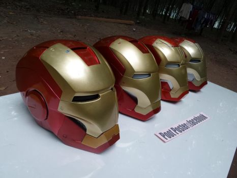 Iron man helmet  handmade collection by PootPoster