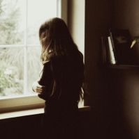 house on hilltop, rainy day by laura-makabresku