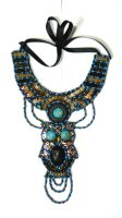 Beaded owl body adorment necklace  Ani by AniDandelion