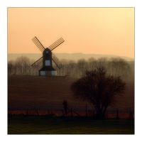 The Windmill at Sunset by Bogbrush