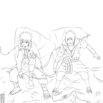 They are friends again lineArt by ice-anBu