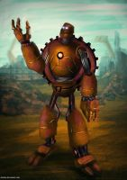 Steampunk robot by cha4os