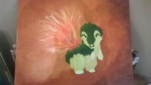 Cyndaquil Painting (Fixed) by versaillesjewels