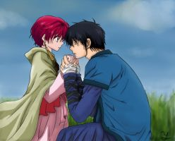 hak y yona -akatsuki no yona (color) by Ylaila