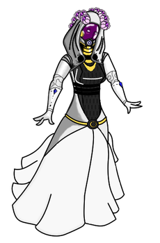 Tali Wedding Dress -updated- by DrivinG-GhosT