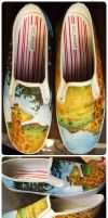Alt. Universe Giraffe Shoes by someorangegirl