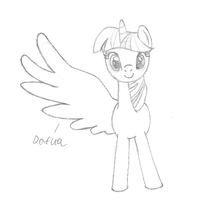 Twilicorn Derp by UltimaCreations