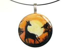 Giraffe Silhouette Pendant by sobeyondthis