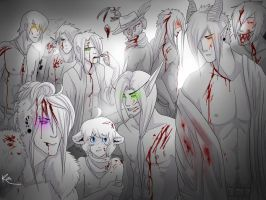 Sexy bloody men by Kiibie