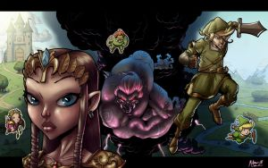 The Legend of Zelda- Colors by AdamMasterman