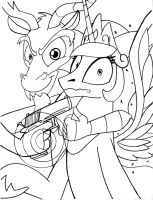 B.R.A. Shooting Target by Sketchywolf-13