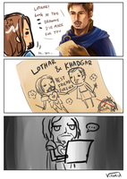 Lothar and Khadgar is best friend forever. by Mimoly